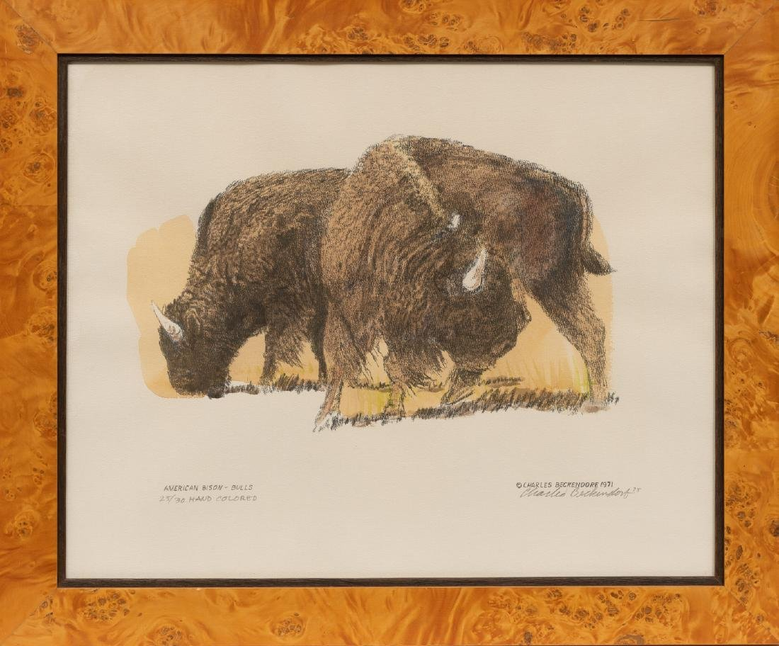 "Charles Beckendorf (1930-1996), ""American Buffalo - - 2"