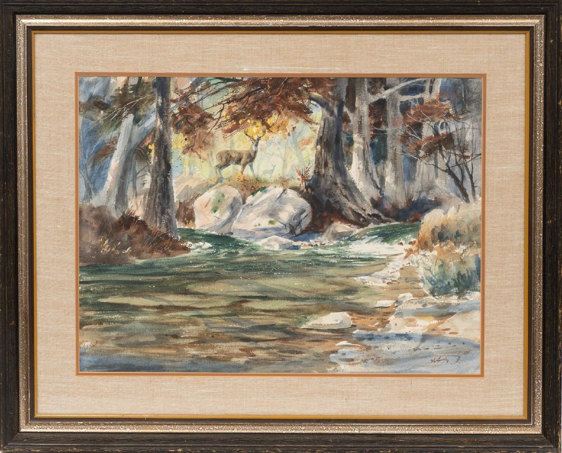 "Clay McGaughy (b. 1931), ""Junction"", watercolor - 2"