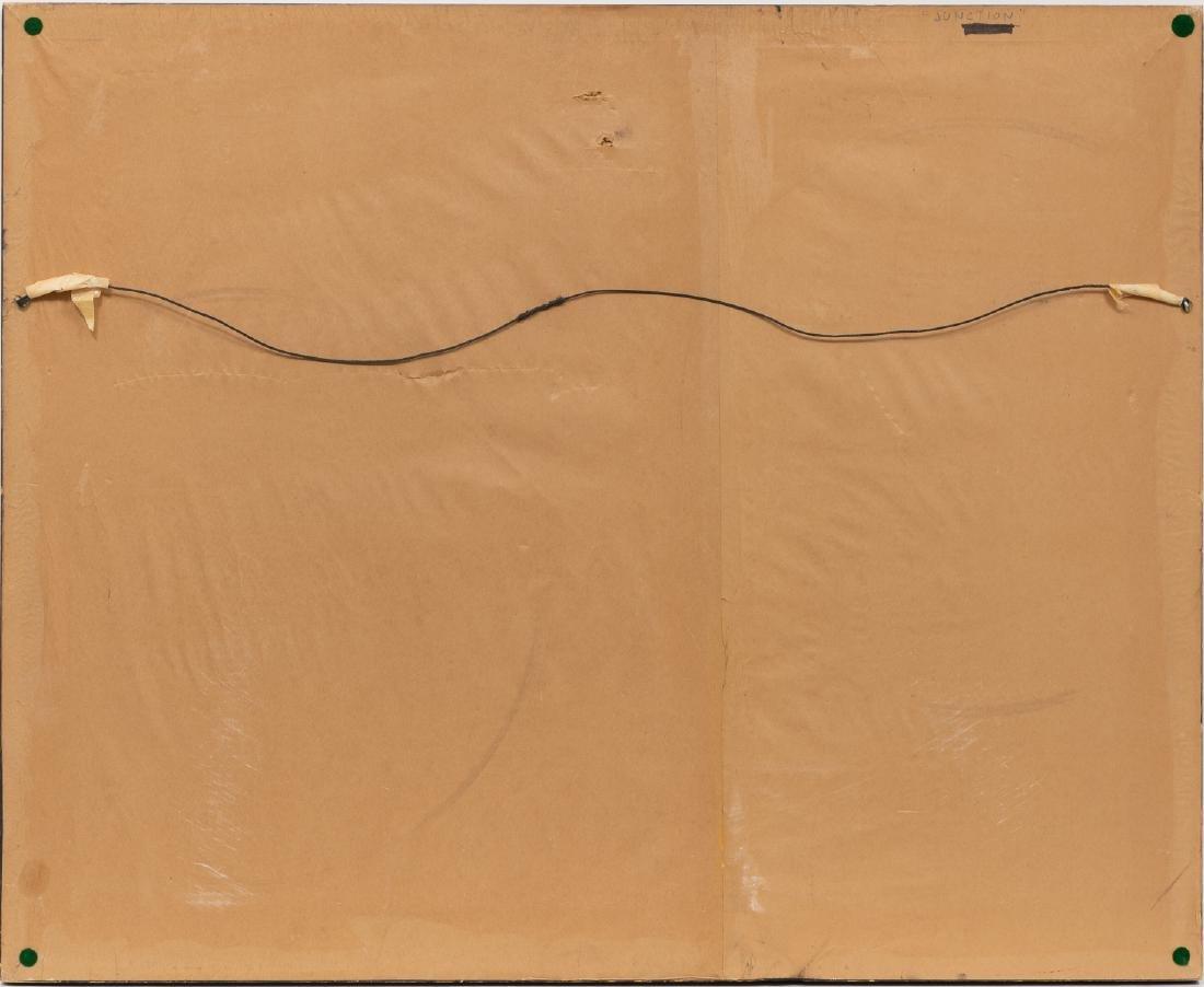 "Clay McGaughy (b. 1931), ""Junction"", watercolor - 4"