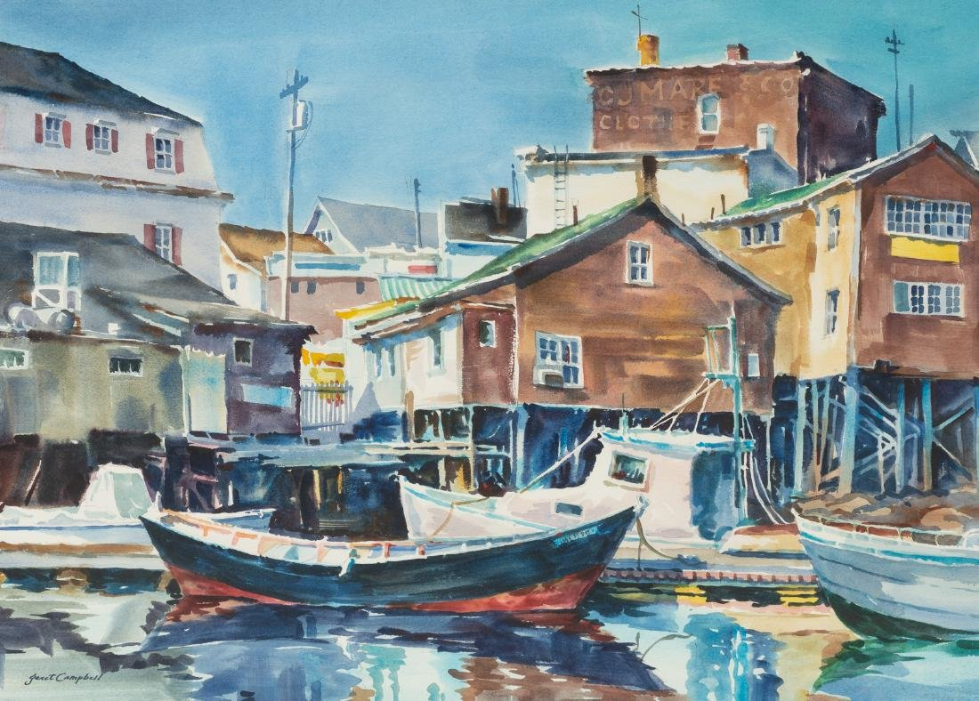 "Janet Campbell (b. 1952), ""Booth Bay Harbor"","