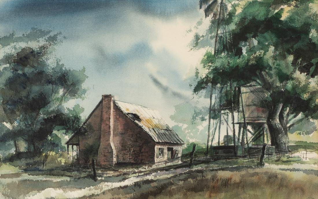 """Finis Collins, """"Summer Afternoon at Leon Springs"""","""