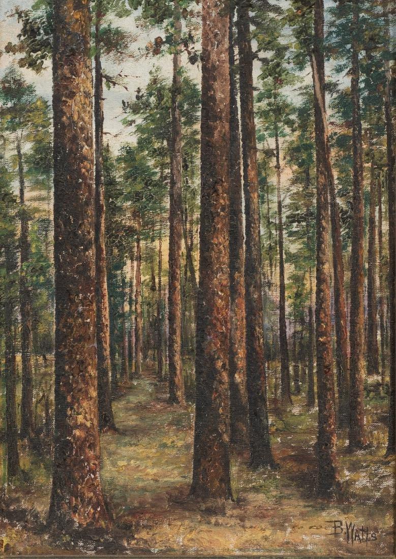 Beulah Watts (1872-1941), East Texas Pines, oil