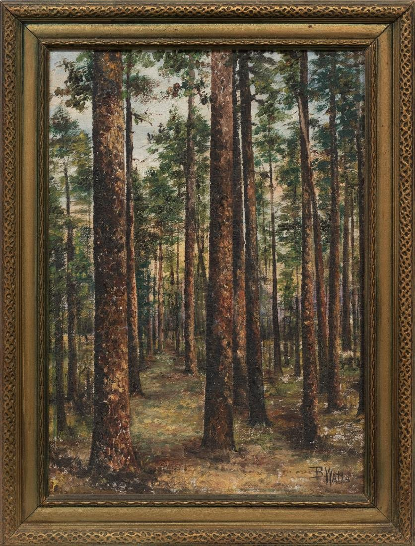 Beulah Watts (1872-1941), East Texas Pines, oil - 2
