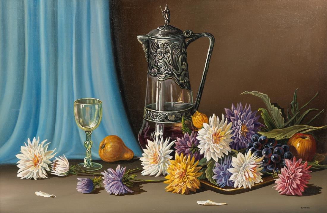 J.W. Thrasher (b. 1940), Still Life with Chrysanthemums