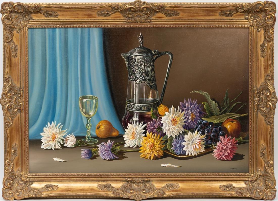 J.W. Thrasher (b. 1940), Still Life with Chrysanthemums - 2