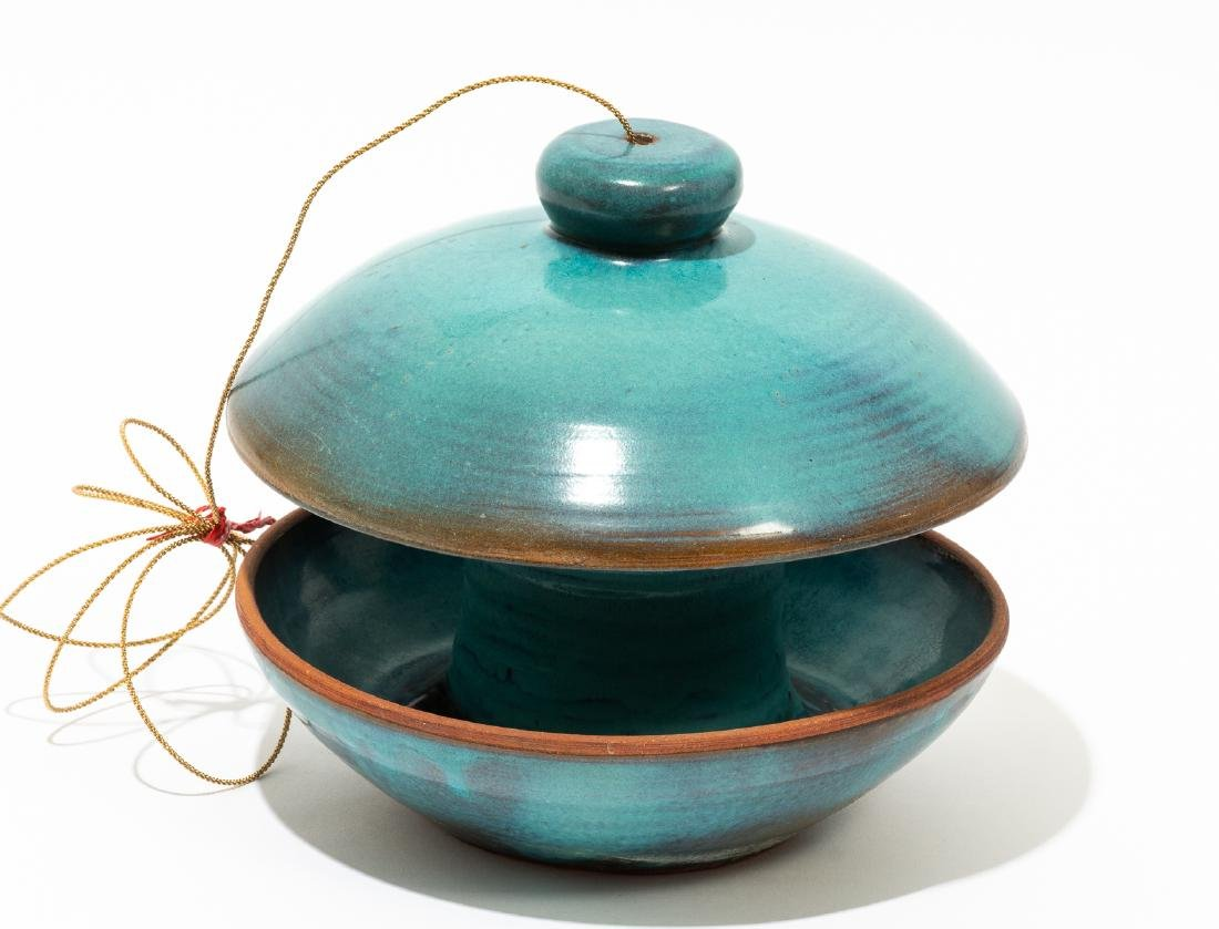 Harding Black (1912-2004), Turquoise bird feeder, 1974