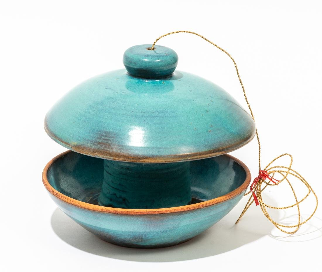 Harding Black (1912-2004), Turquoise bird feeder, 1974 - 2