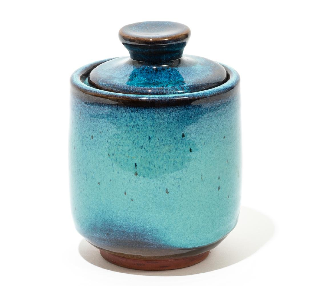 Harding Black (1912-2004), Turquoise lidded jar, 1969,