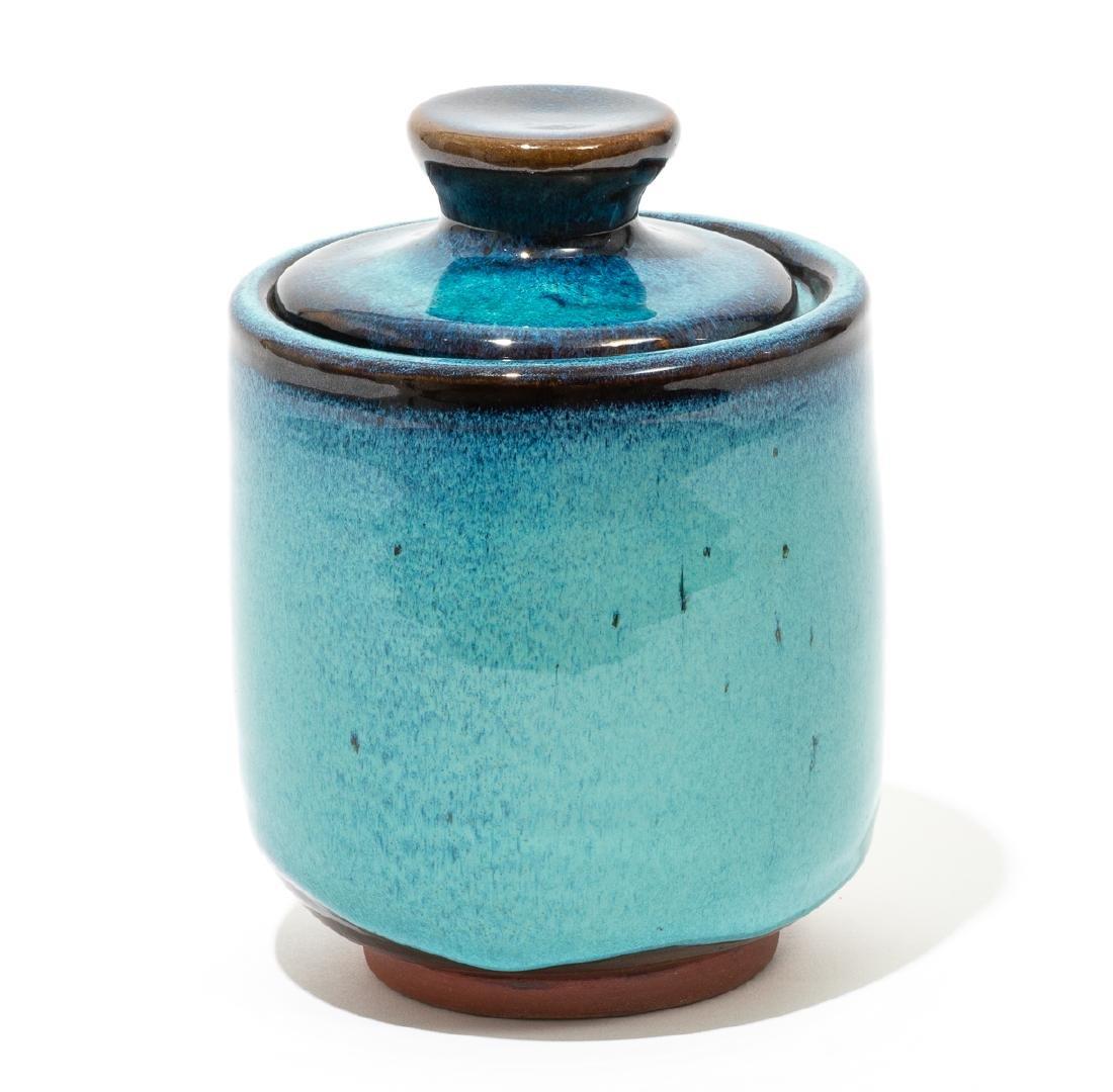 Harding Black (1912-2004), Turquoise lidded jar, 1969, - 2