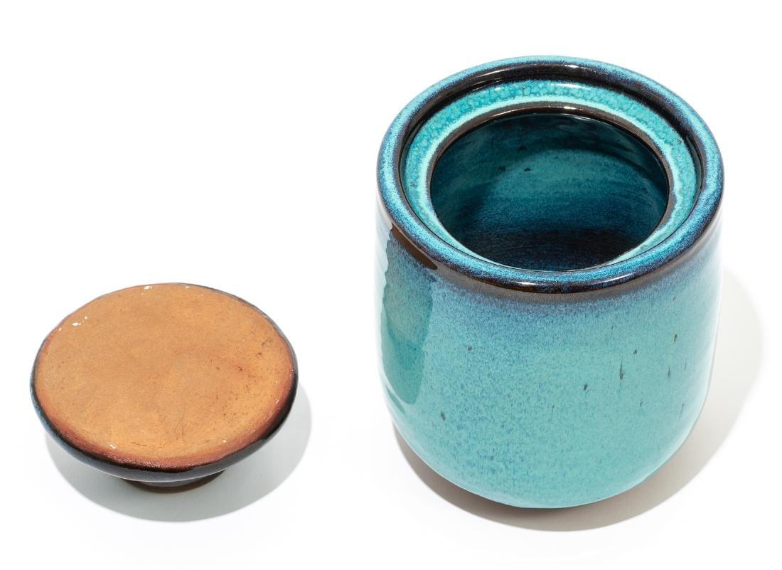 Harding Black (1912-2004), Turquoise lidded jar, 1969, - 3