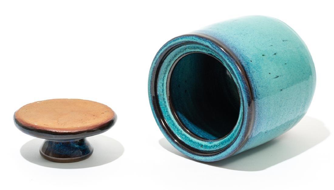 Harding Black (1912-2004), Turquoise lidded jar, 1969, - 4