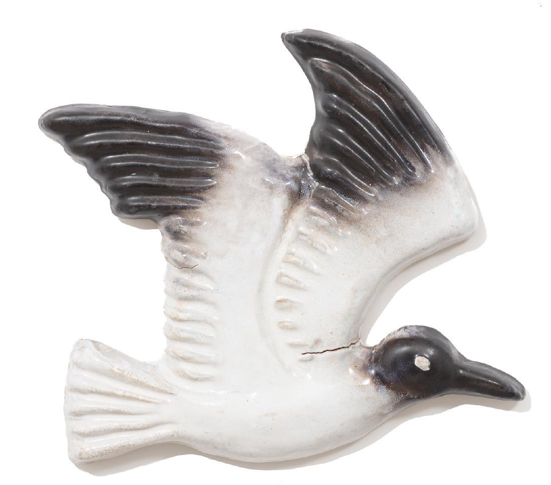 Harding Black (1912-2004), Seagull relief, 1974, glazed