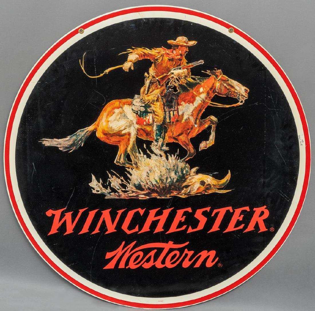 Winchester Western Large Round Sign c. 1950 - 2