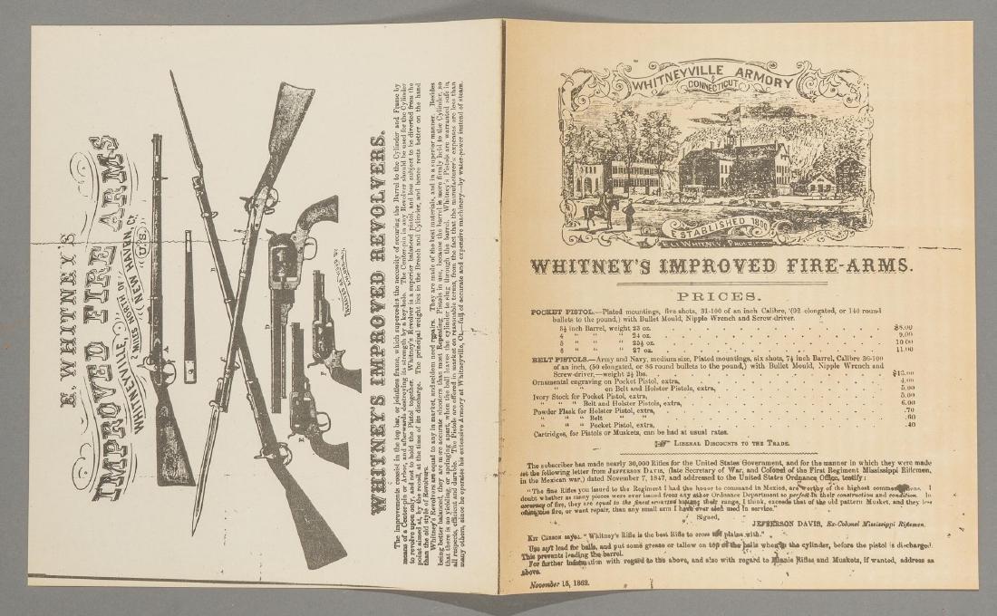 (3) Printed Colt's Price List