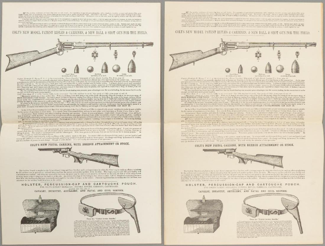 (3) Printed Colt's Price List - 3