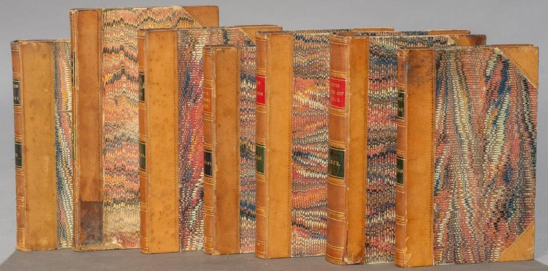 Group of 7 Leather-Bound Books on Militaria - 2