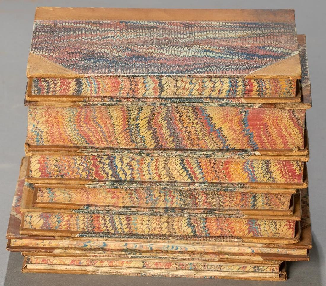 Group of 7 Leather-Bound Books on Militaria - 3