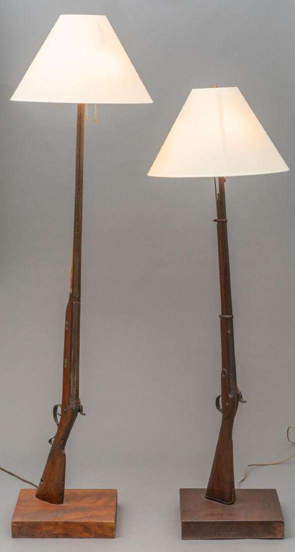 Pair of Retrofitted Safari Shotgun Lamps