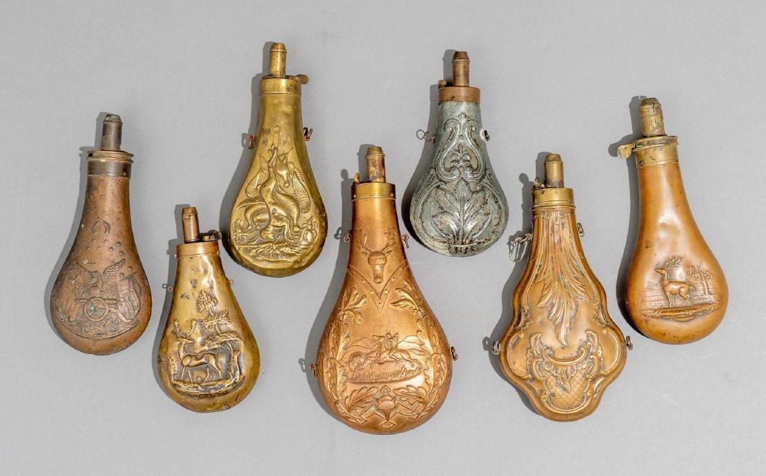Seven Powder Flasks