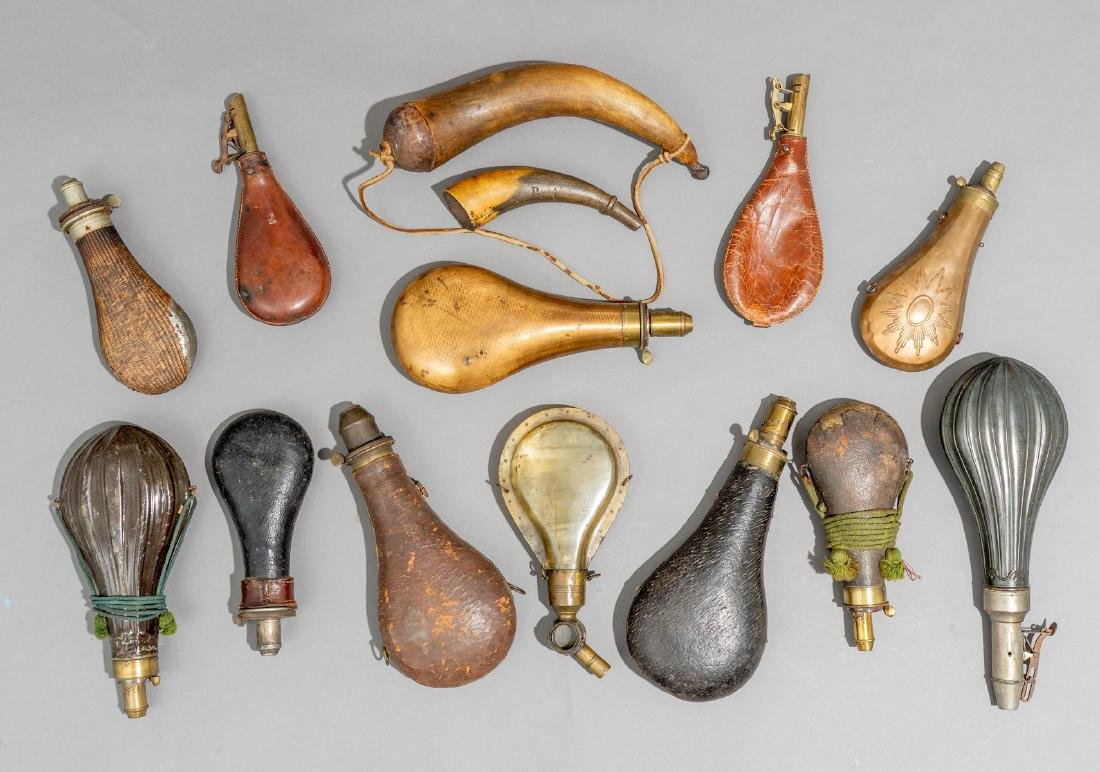 Collection of Powder Horns & Flasks