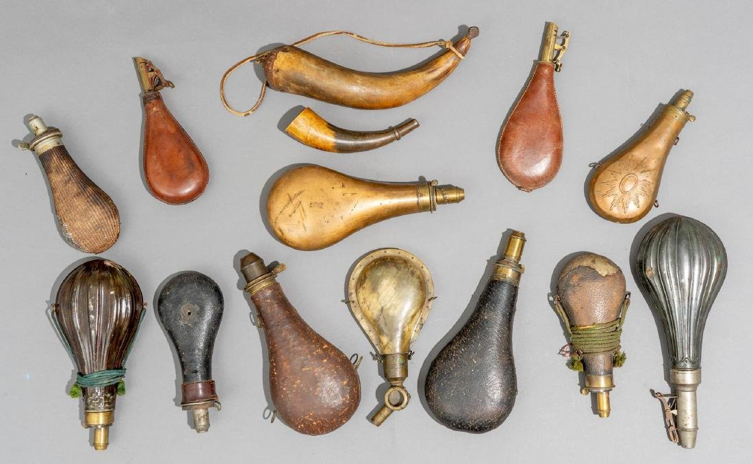 Collection of Powder Horns & Flasks - 2