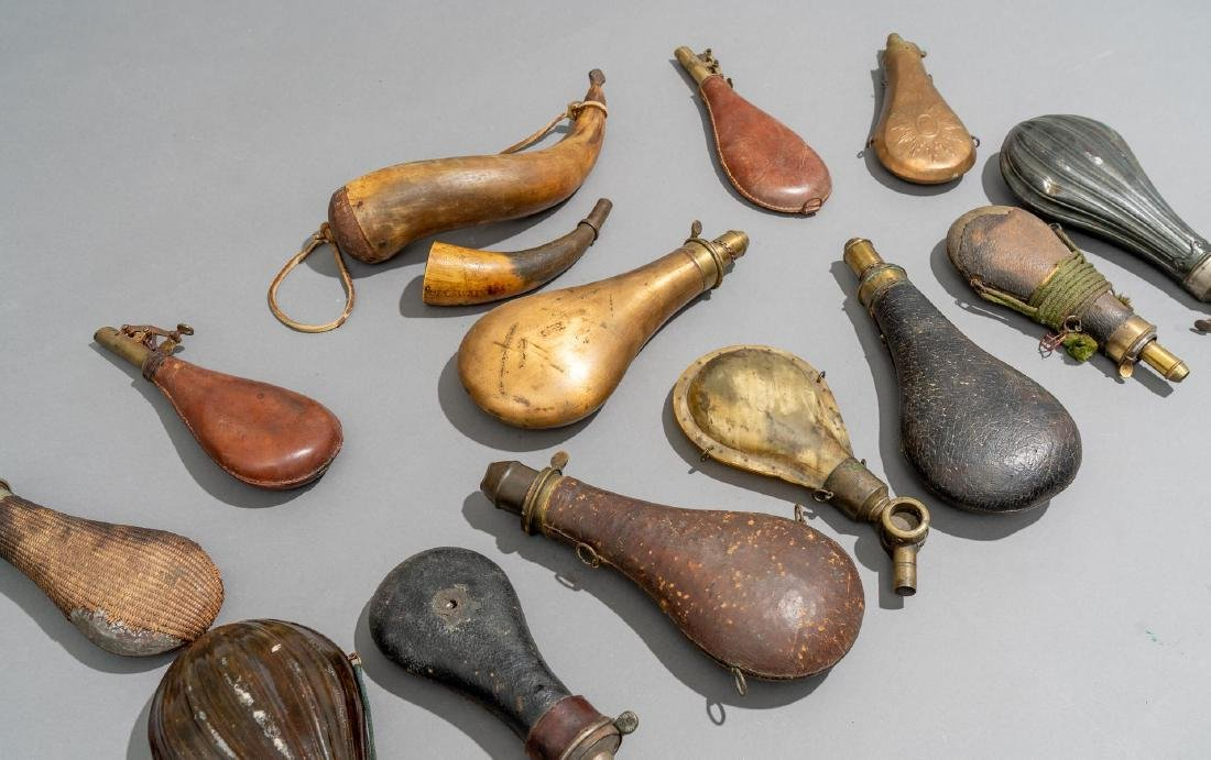 Collection of Powder Horns & Flasks - 3