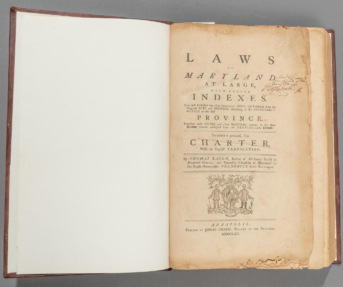 "Bacon, Thomas ""Laws of Maryland"", 1765"