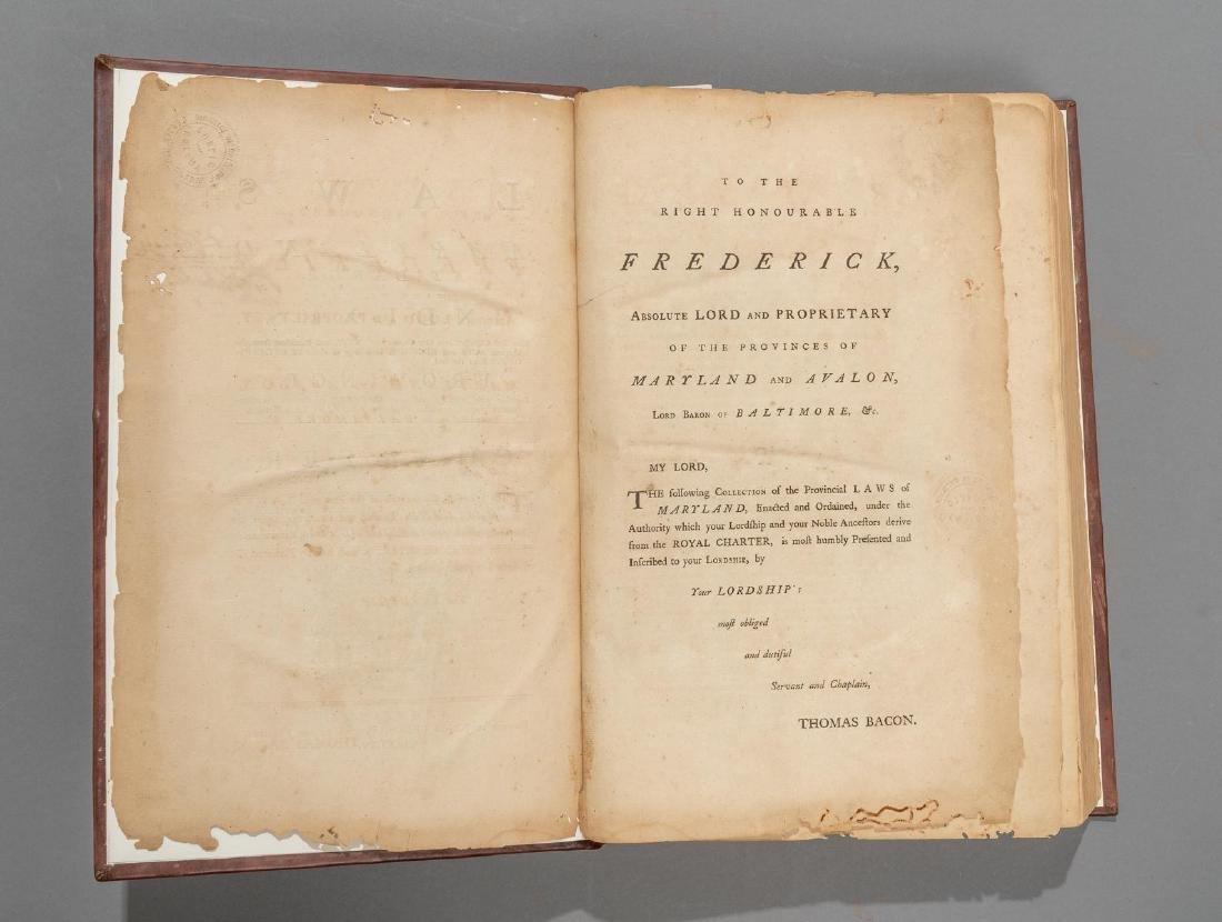 "Bacon, Thomas ""Laws of Maryland"", 1765 - 2"