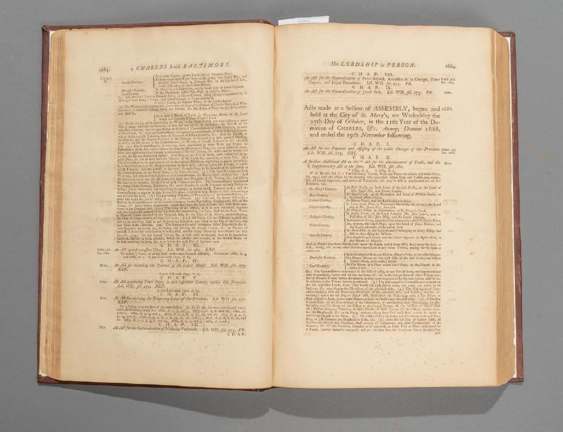 "Bacon, Thomas ""Laws of Maryland"", 1765 - 4"