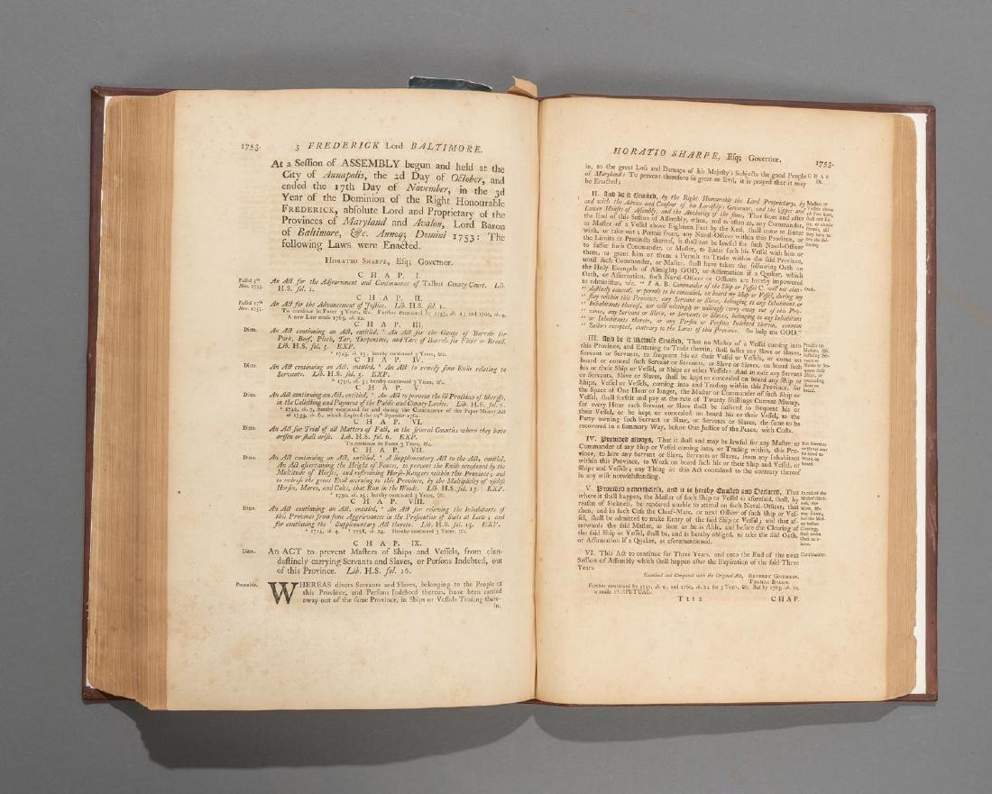 "Bacon, Thomas ""Laws of Maryland"", 1765 - 5"