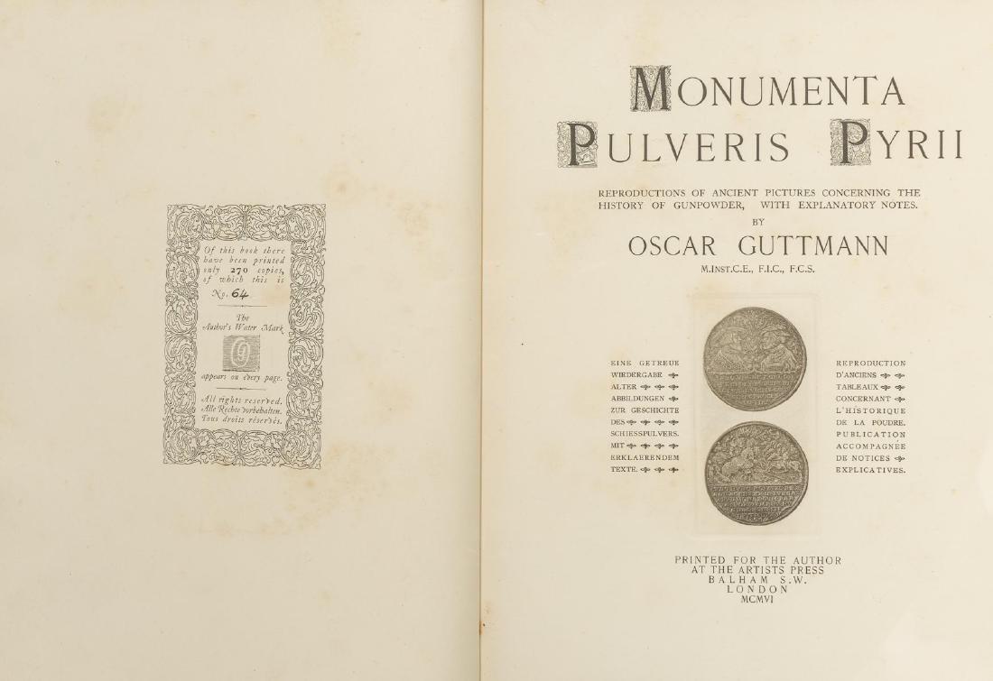 "Guttmann, Oscar ""Moumenta Pulveris Pyrii"", 1906 - 2"