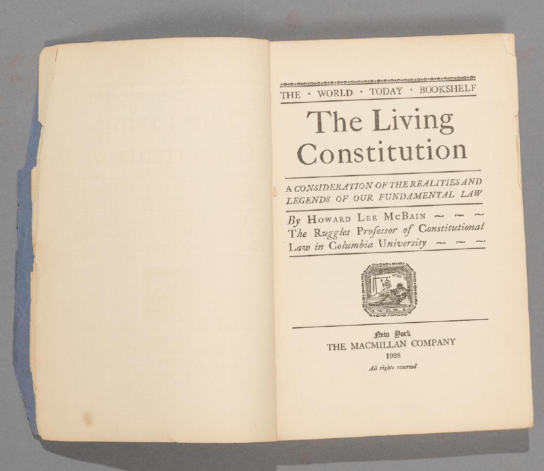 """McBain, Howard """"The Living Constitution"""", 1928"""