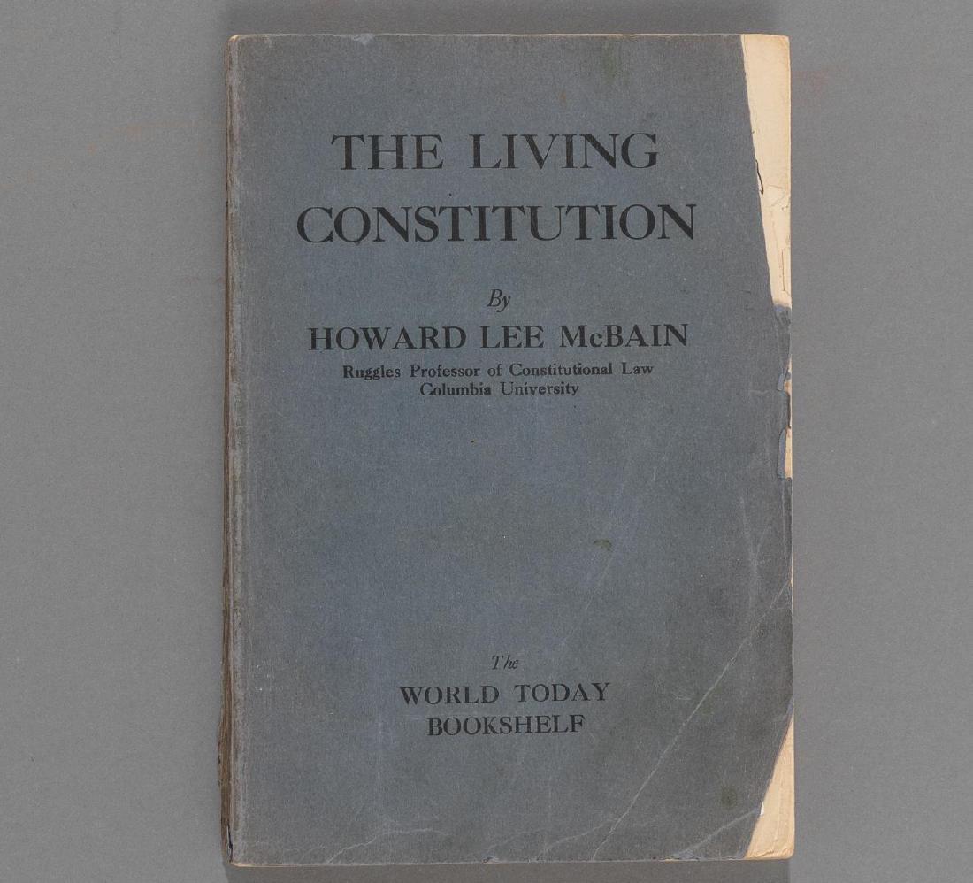 """McBain, Howard """"The Living Constitution"""", 1928 - 2"""