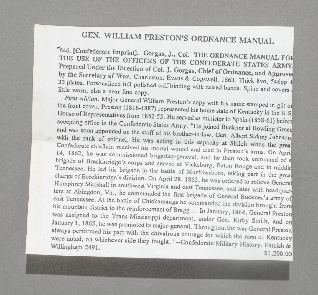 Gen. William Preston's Confederate Ordnance Manual - 7