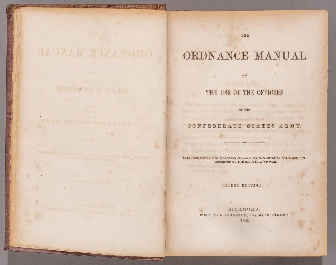 1863 Ordnance Manual, Confederate States Army