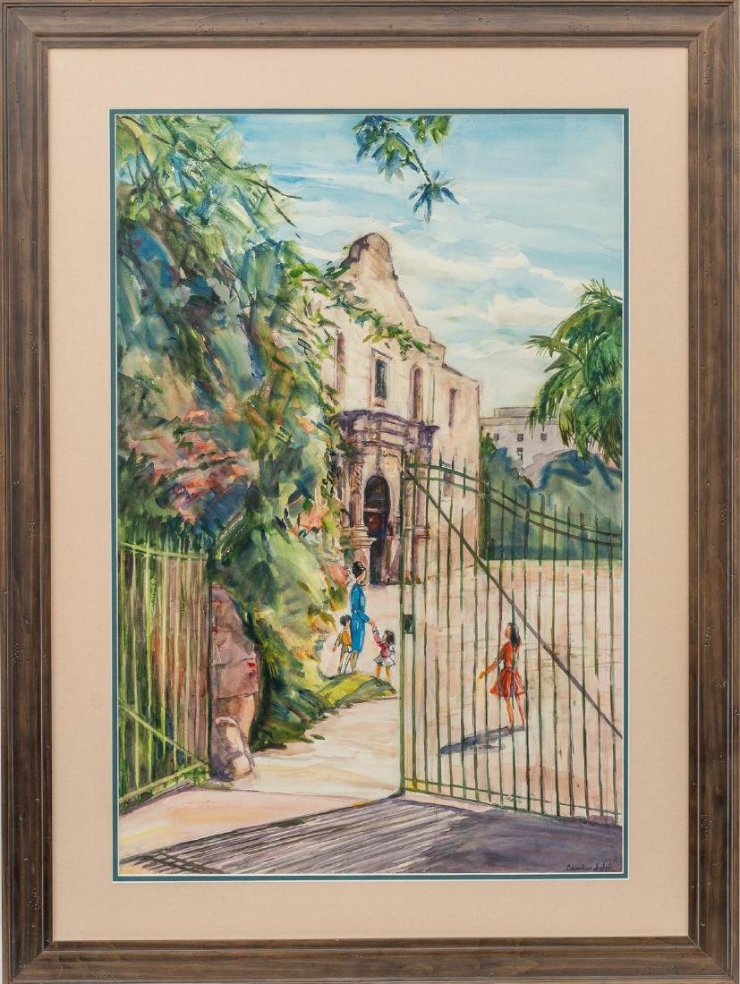 Carolyn John (1906-1996), The Alamo, watercolor - 2