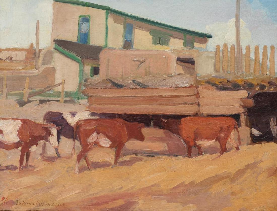 "LaVerne Nelson Black (1887-1938), ""Corral, Taos"""