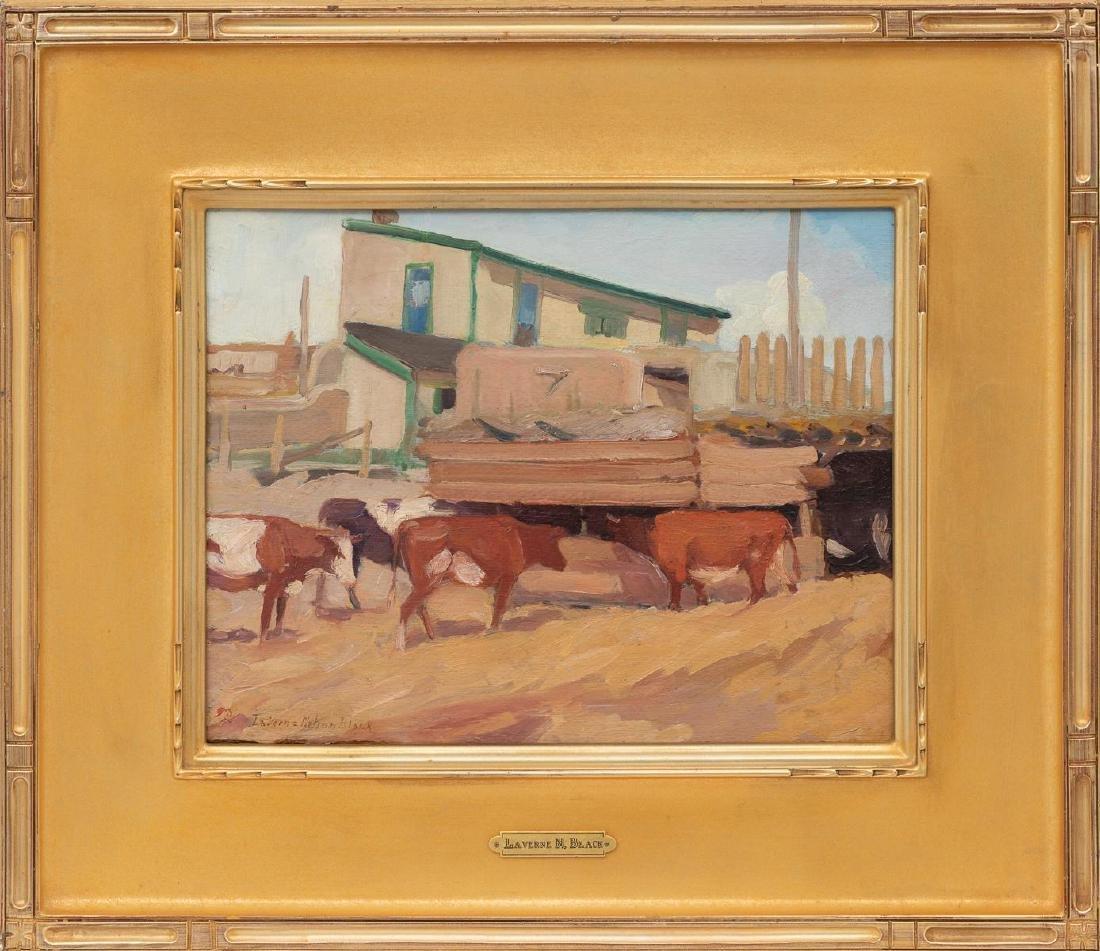 "LaVerne Nelson Black (1887-1938), ""Corral, Taos"" - 2"