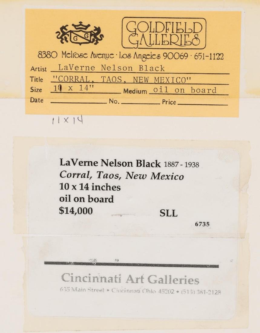 "LaVerne Nelson Black (1887-1938), ""Corral, Taos"" - 6"