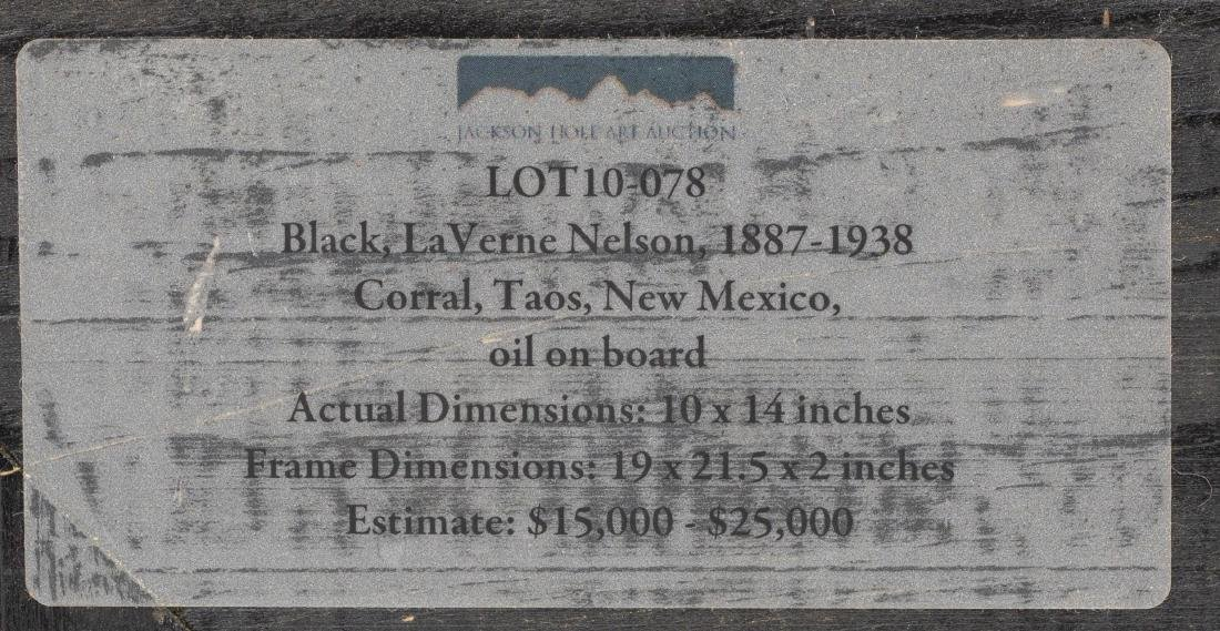 "LaVerne Nelson Black (1887-1938), ""Corral, Taos"" - 7"