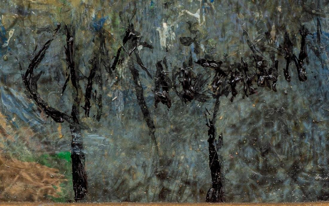 "Jerry Malzahn (b. 1946), ""Willow Loop"", oil on board, - 3"