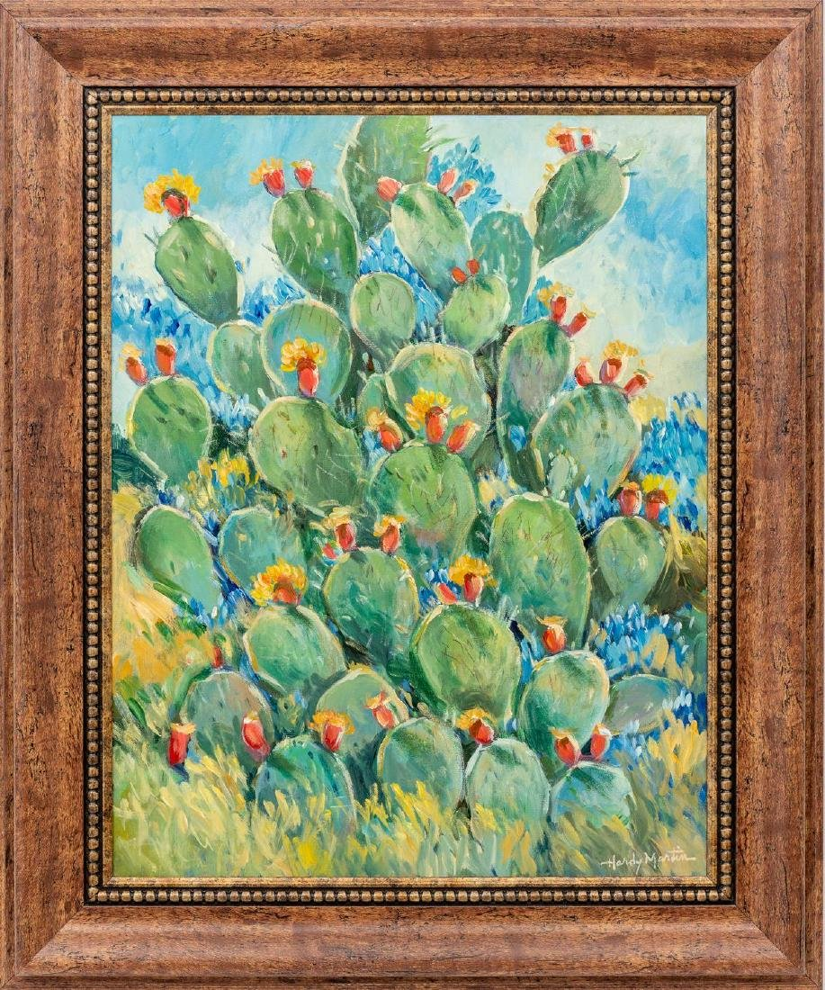"Hardy Martin, Blooming Cactus, oil on canvas, 28 x 22"" - 2"