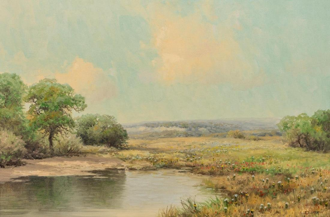 """A.D. Greer (1904-1998), """"Early Spring, Hill Country"""""""