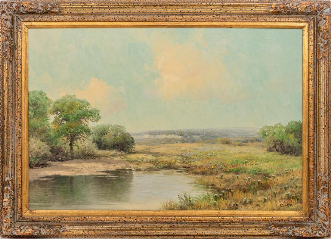 """A.D. Greer (1904-1998), """"Early Spring, Hill Country"""" - 2"""