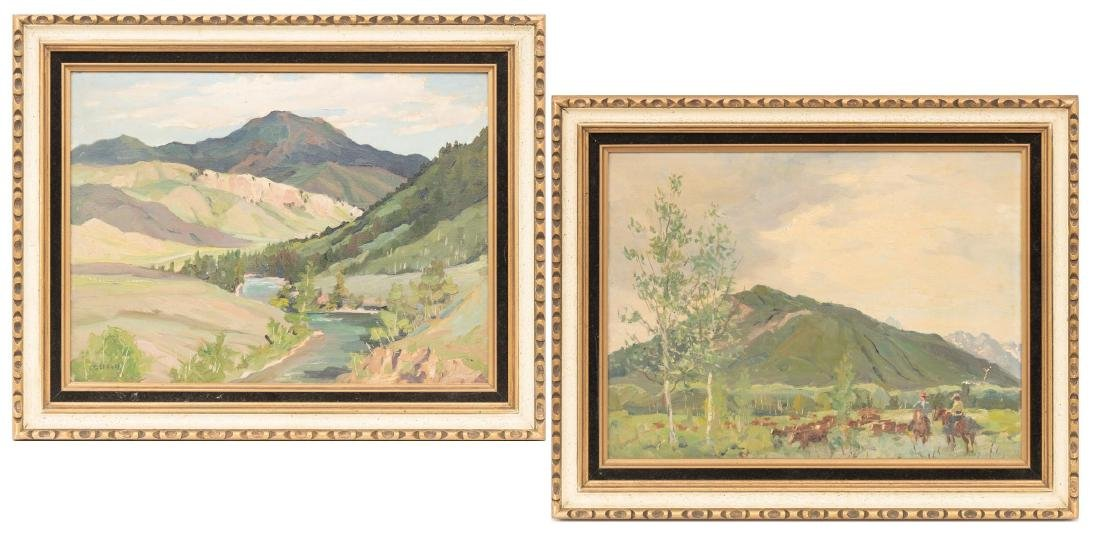 Frank Gervasi (1895-1986), Pair of Landscapes, oil