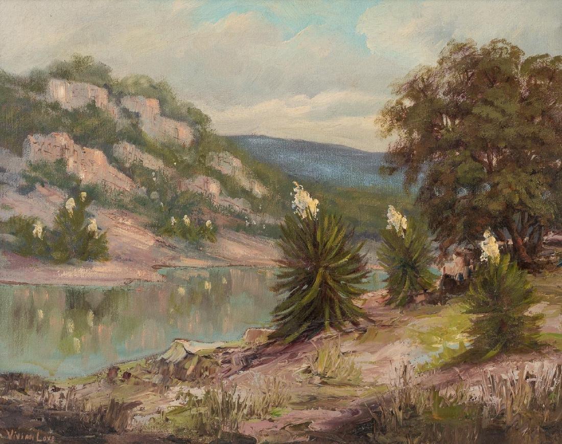 Vivian Love (1908-1982), Riverside, oil on canvas