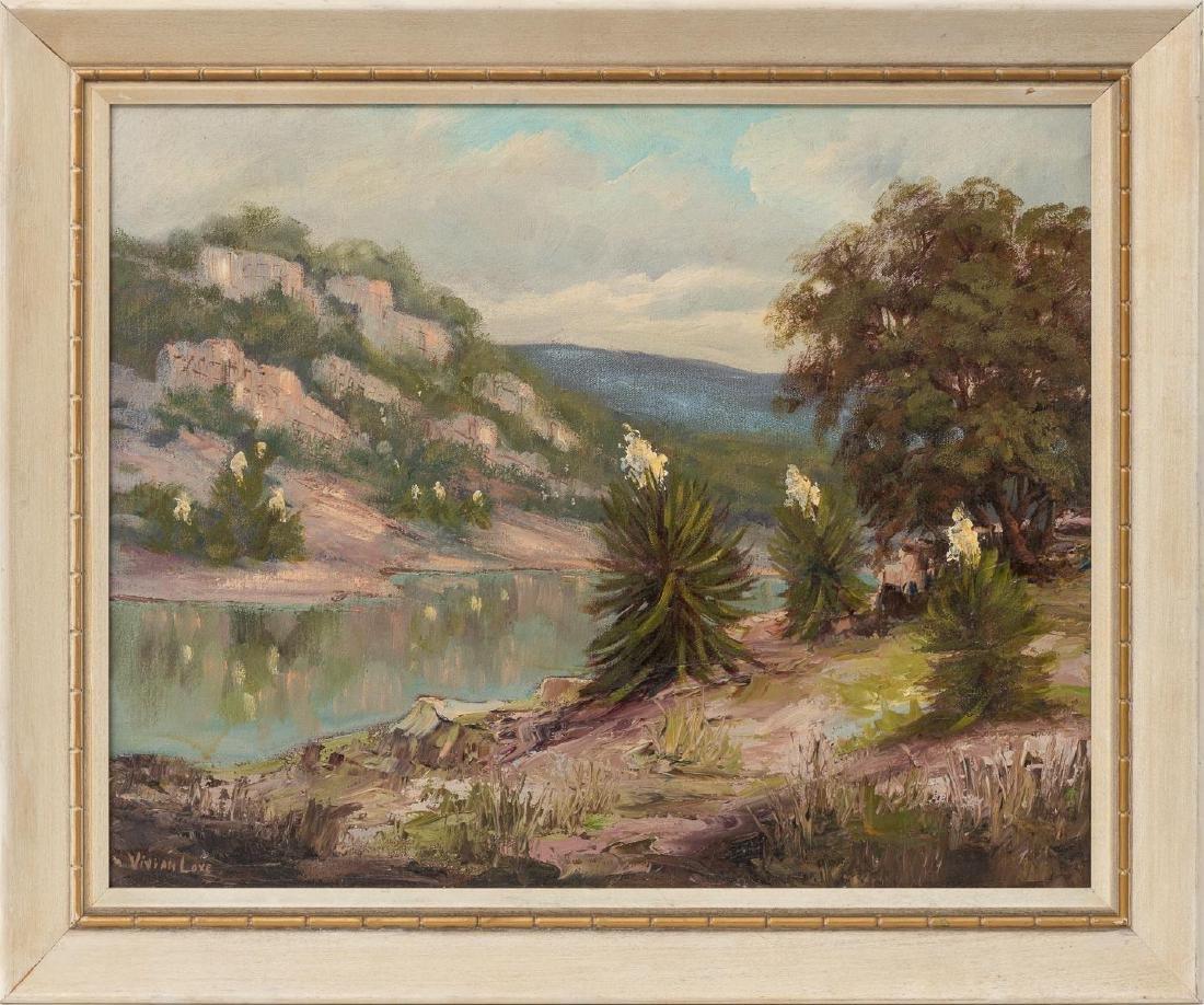 Vivian Love (1908-1982), Riverside, oil on canvas - 2