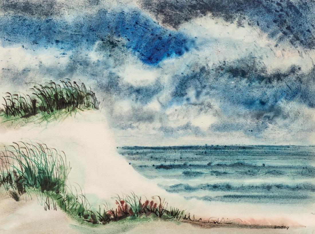 Michael Frary (1918-2005), Texas Coast, watercolor,