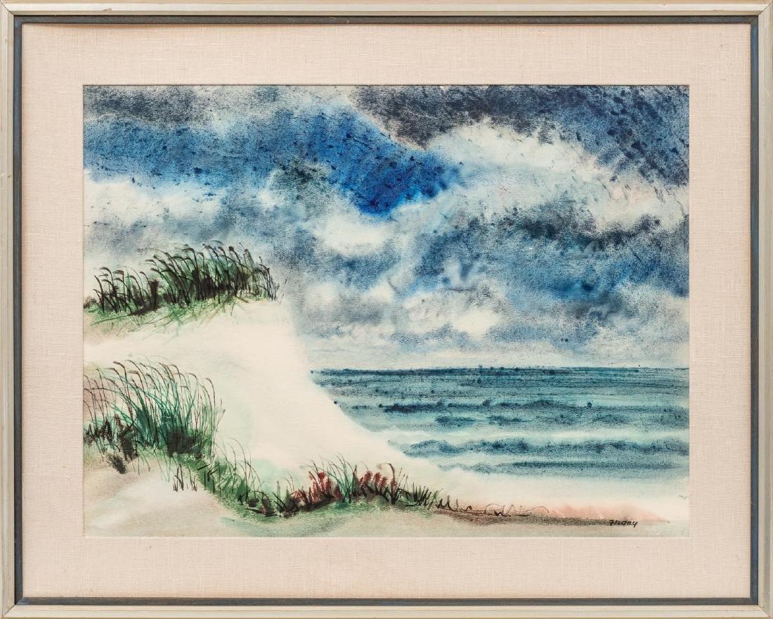 Michael Frary (1918-2005), Texas Coast, watercolor, - 2