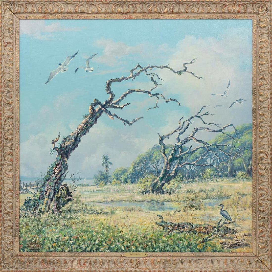 """Simon Michael (1905-2002), """"Withered Oaks"""", oil - 2"""